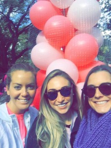 Reanna, Robin and Molly at the American Cancer Society's Making Strides Against Breast Cancer walk in New York City